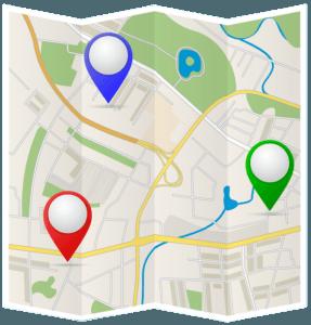Karte für lokale Suchmaschinenoptimierung