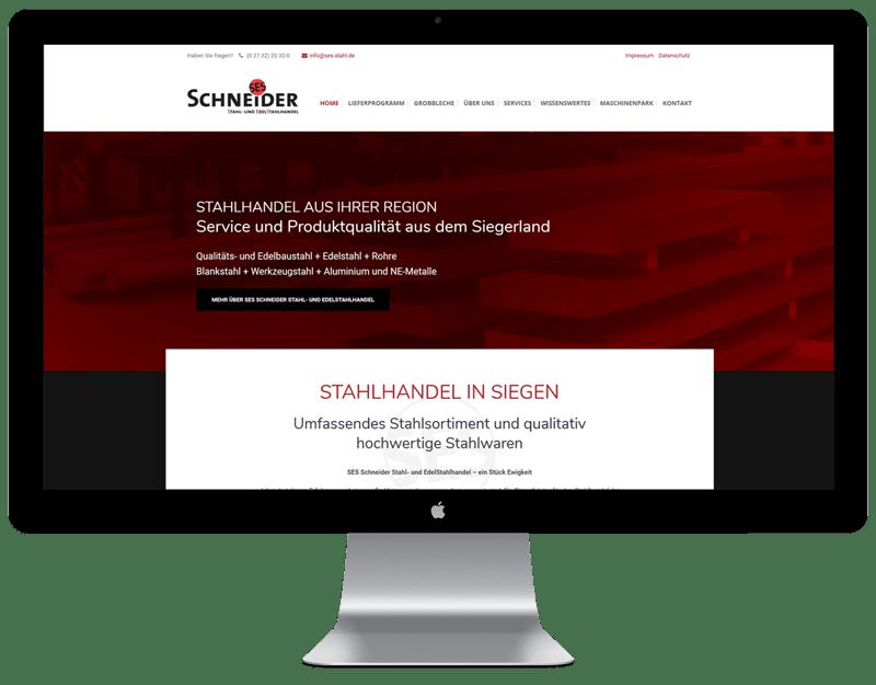 Referenz SES Stahlhandel. Neues Webdesign und SEO